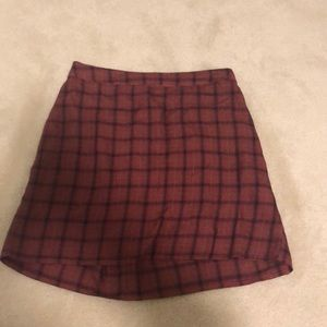 American Eagle High Waisted Plaid Skirt Size S
